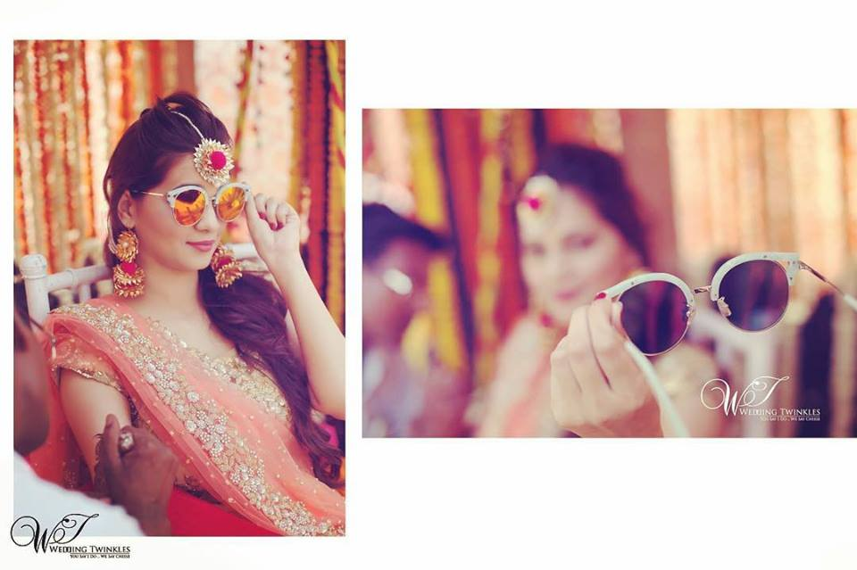 Mehndi Ideas Accessories kaala chashma
