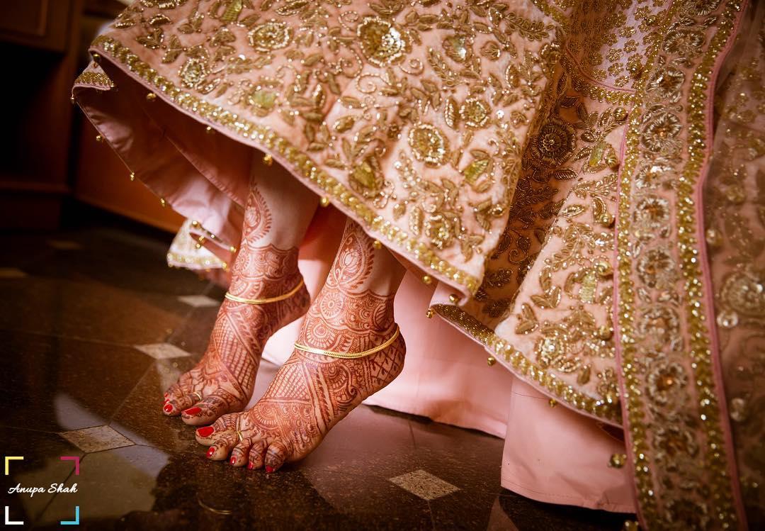 Mehendi Feet by wedding photographers