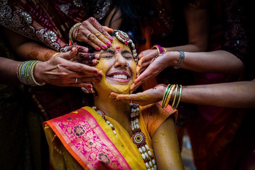 Haldi wedding photography