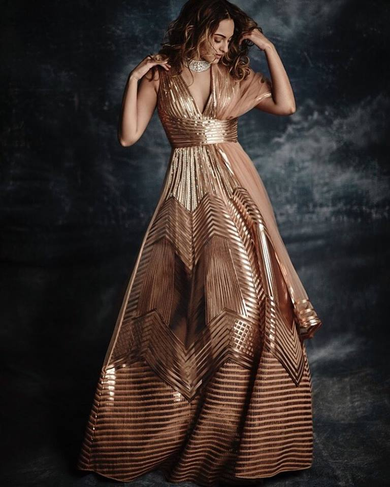 gold cocktail gowns