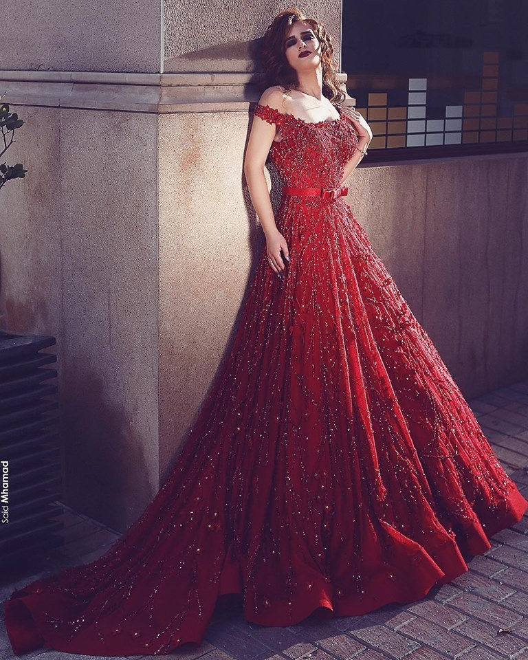 Red cocktail gowns