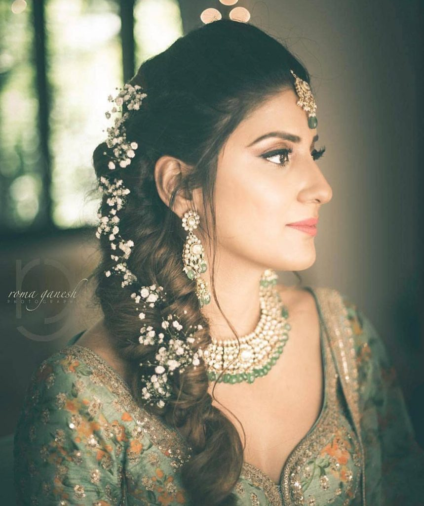 Indian Wedding Braid Hairstyles: Floral Hairstyles For Brides This Wedding Season