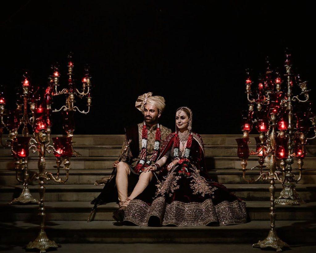 royal couple pose