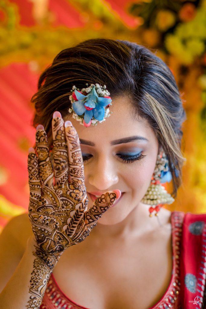 indian bride mehendi
