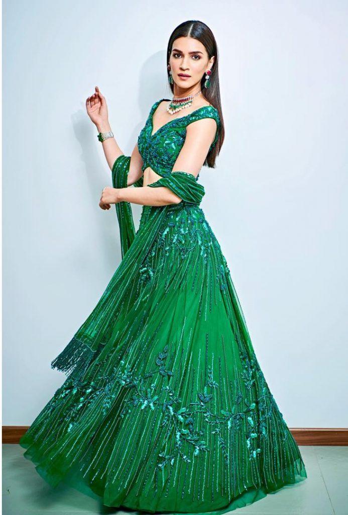 mint green lehengas