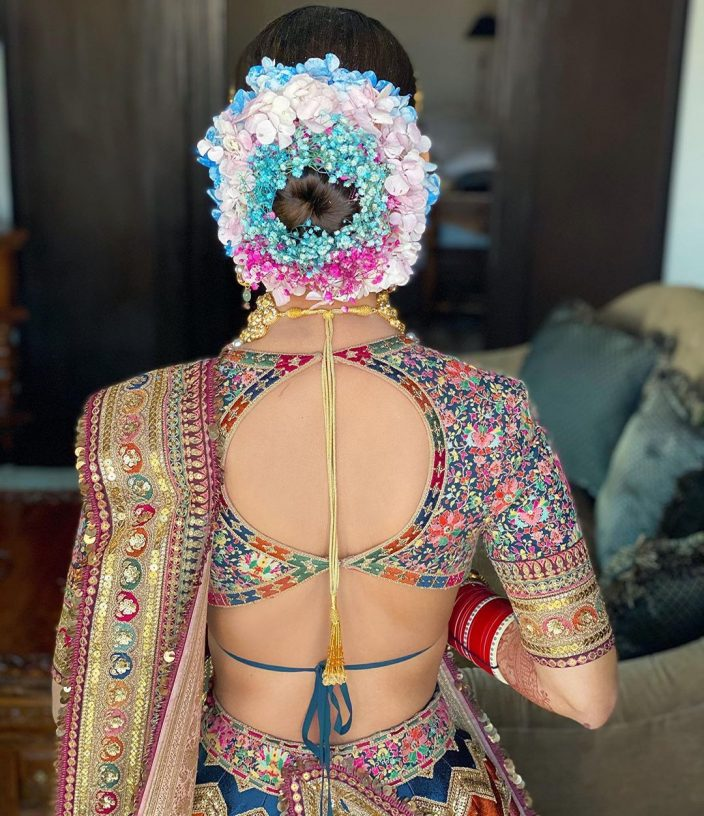 Stylish buns for the Indian bride