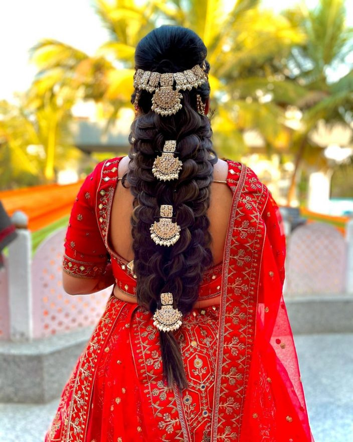 Royal braided bridal hairstyle